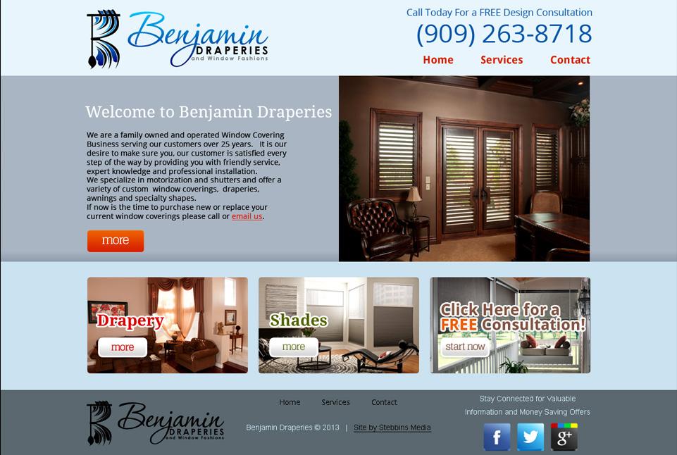 Benjamin Draperies Web Site